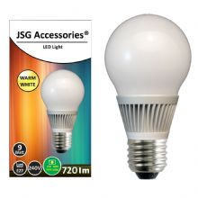 JSG Accessories® E27 Screw 9W Energy saving LED bulb in Warm White